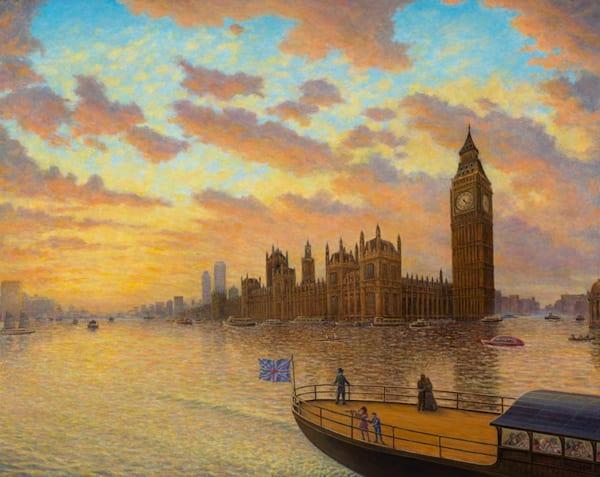Londinium 21 Canvas Giclee Art   markhensonart
