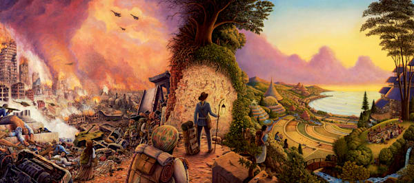 New Pioneers Canvas Giclee Art   markhensonart