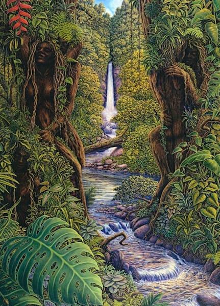 Sylvan Serenity Canvas Giclee Art   markhensonart