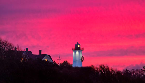 Nobska Light Winter Sunrise Art | Michael Blanchard Inspirational Photography - Crossroads Gallery