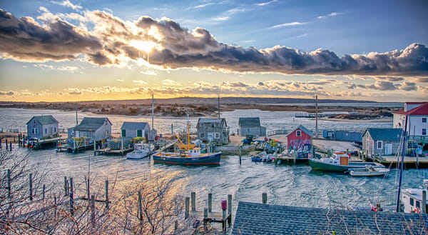 Menemsha Blustery Winter Sunset
