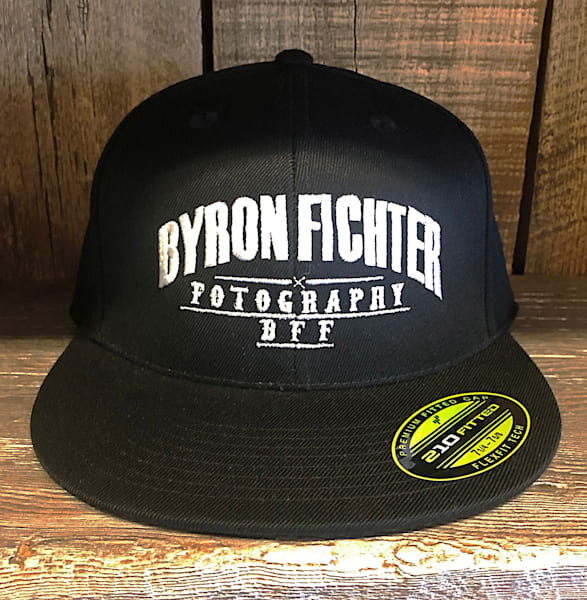 Flat Bill Fitted Hat | Byron Fichter Fotography
