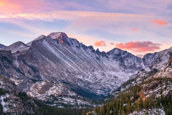 Photo of Longs Peak and Glacier Gorge Sunrise Rocky Mountain National Park CO