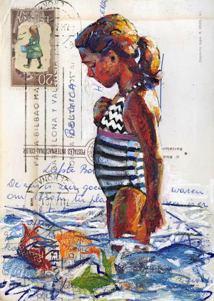 Girl With Fish Art | Bianca Berends