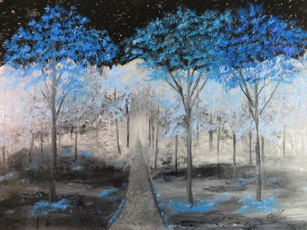 Blue Forest Walk Art | Artist Ron Turner
