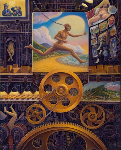 Wheel Of Fortune Canvas Giclee Art | markhensonart