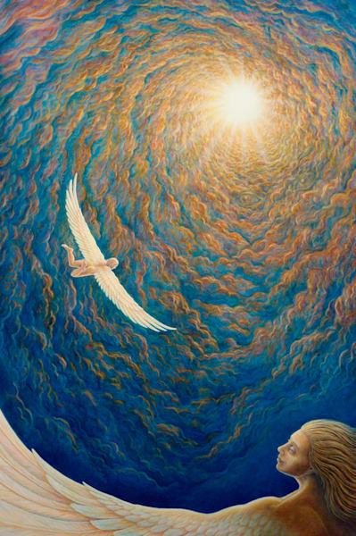 Winging On Canvas Giclee Art | markhensonart