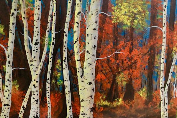 Birch In Autumn Art | House of Fey Art