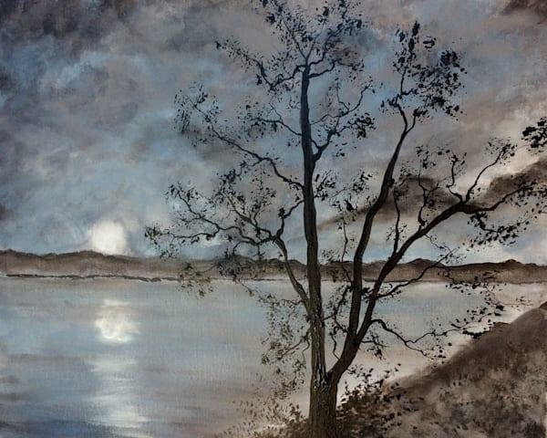 Moonlit Lake Art | House of Fey Art