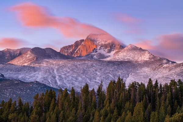 Photo of Cloud Trail above Snow Capped Longs Peak RMNP Colorado