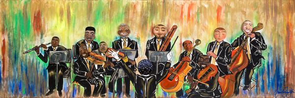 """Chamber Orchestra Medley"" Art   Jamila Art Gallery"