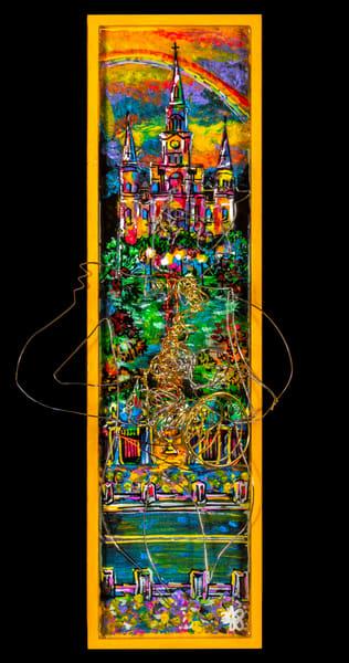 """Jazz Scene""  St. Louis Cathedral Art   Jamila Art Gallery"
