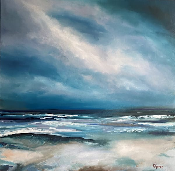 Windward Original Seascape Oil Painting by Coastal Artist Kristine Kainer