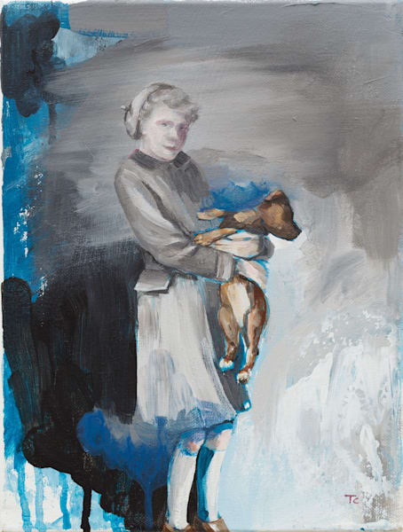 Girl And Dog Art | Trine Churchill