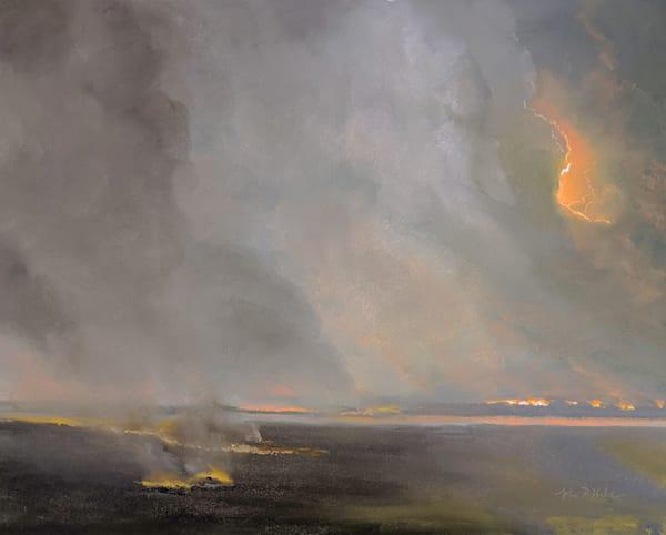 Raging fires Art by John Davis Held Fine Art