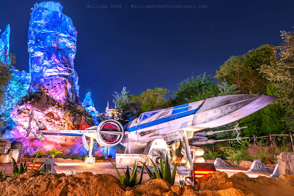 X-Wing Fighter at Batuu - Star Wars Wall Murals   William Drew Photography