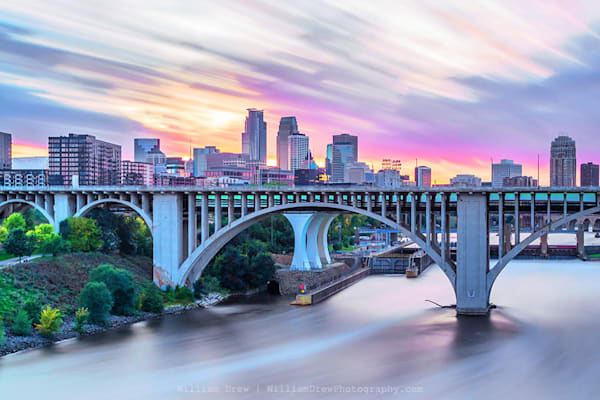 Colorful Minneapolis Sunset - Minneapolis Wall Murals | William Drew
