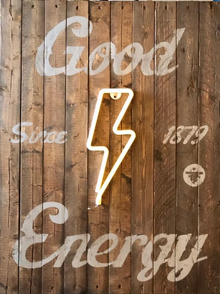 Good Energy (Natural Wood)' Positive Message  Art on Distressed Wood
