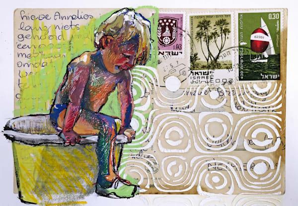 Postcard Bucket Boy Art | Bianca Berends