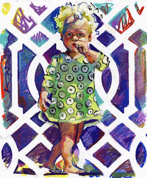 Girl In The Polkadot Dress Art | Bianca Berends