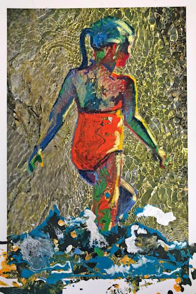 Sunset Girl On Yellowstone Art | Bianca Berends