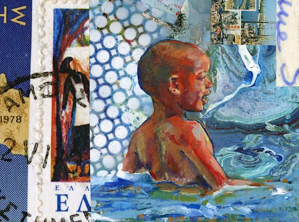 Happy Blue Beach Boy Art | Bianca Berends