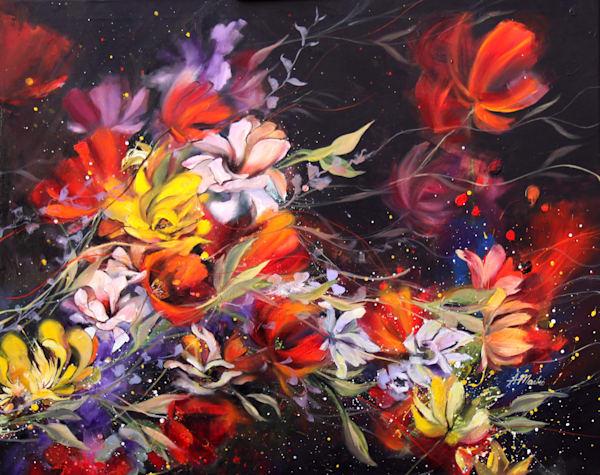 Night Blossom Original Art   evoartmaui