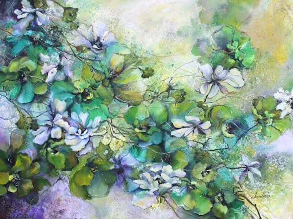 Green Blossom Original Art   evoartmaui