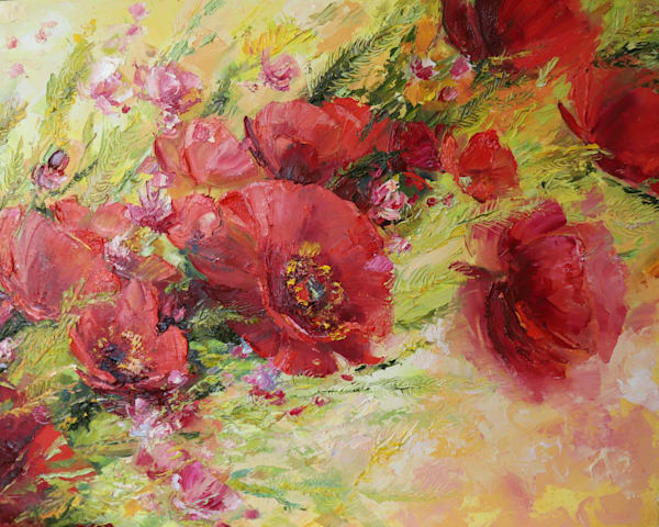 Abstract Poppies Original Art   evoartmaui