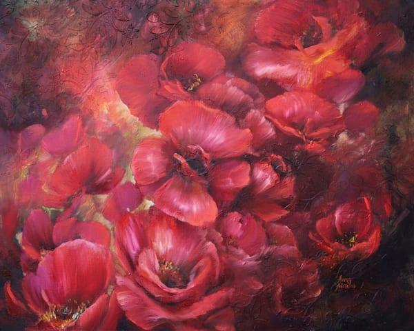 Passion Florals Original Art   evoartmaui