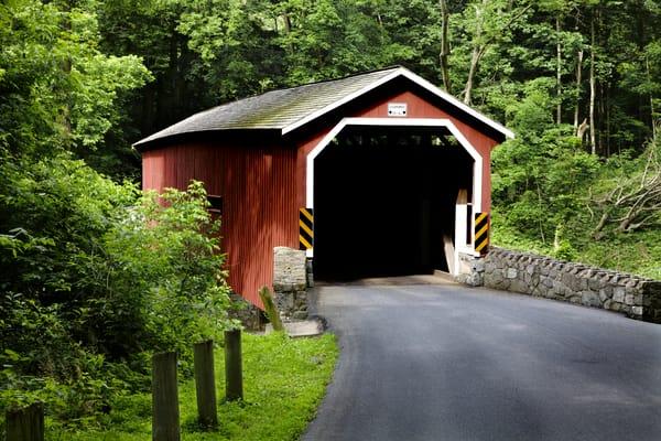 Lancaster Co. covered bridge in summer