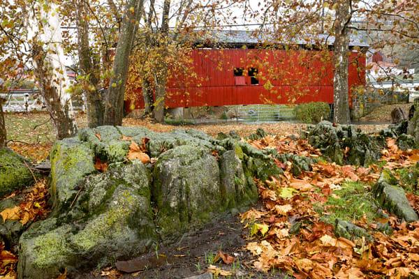Rt 30 covered bridge in fall