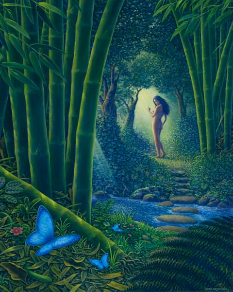 Bamboo Forest original oil painting by Mark Henson