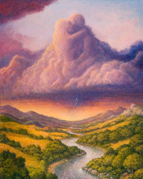 Clouds and Rain original oil painting by Mark Henson