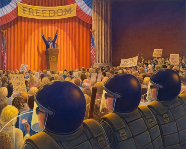 Cost of Freedom original oil painting by Mark Henson