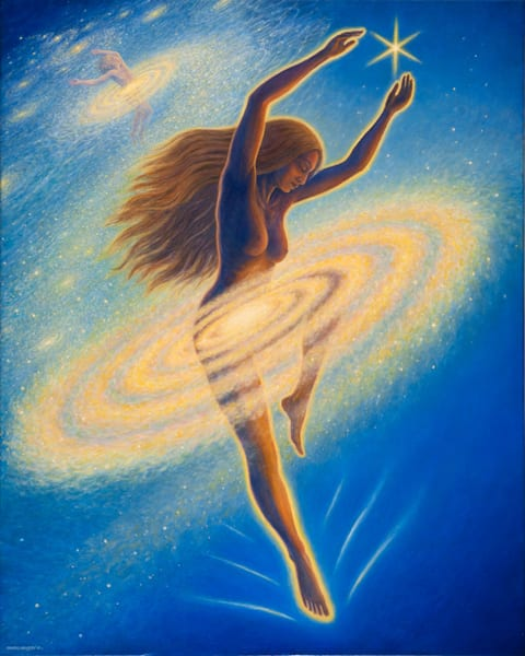 Dancing Across the Universe original oil painting by Mark Henson