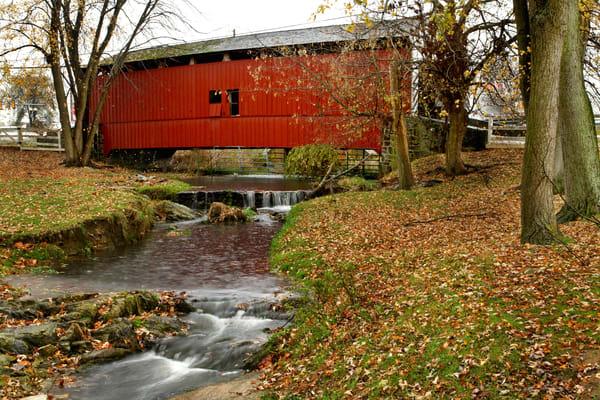 Rt. 30 covered bridge and stream