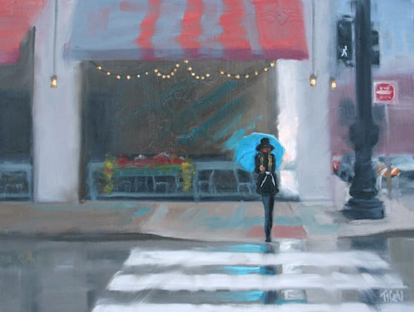 Rainy Day Blue Art | Thalia Kahl
