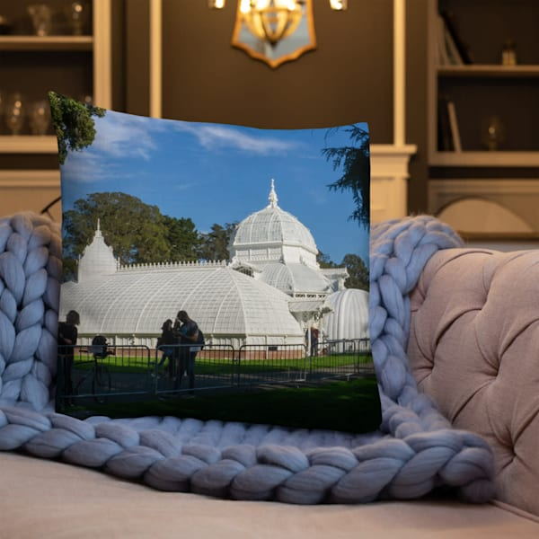 """""""Conservatory Of Flowers"""" Premium Throw Pillow 