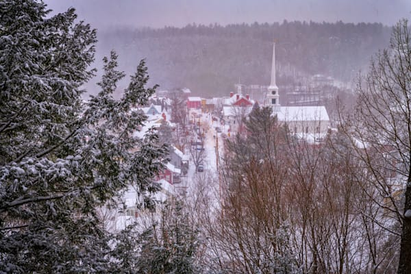 Wintry View of Stowe from Sunset Rock | Shop Photography by Rick Berk