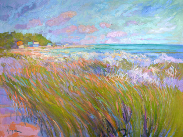 Large Beach Painting, Walk Before Dinner by Dorothy Fagan