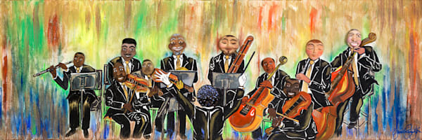 """Chamber Orchestra Medley"" Art | Jamila Art Gallery"