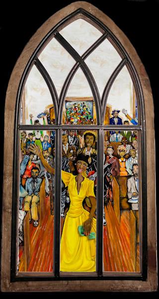 """Speak Lord"" On Metal With Church Window Frame Art | Jamila Art Gallery"