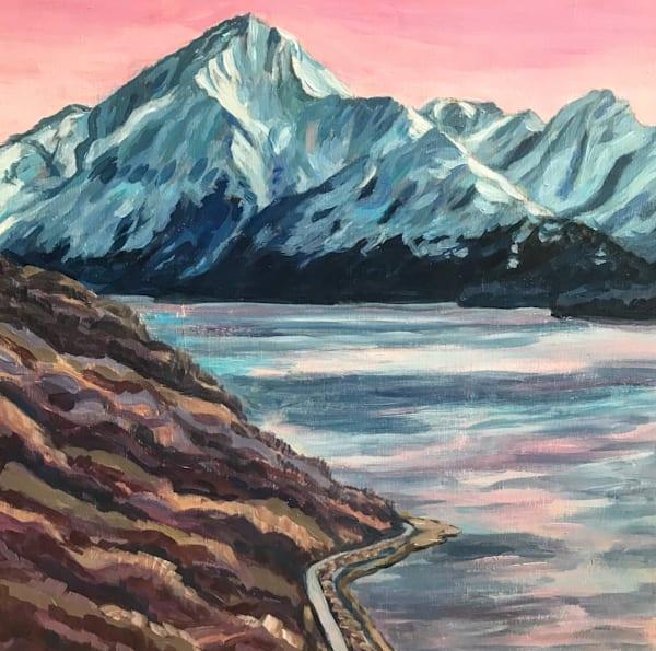 Dawn at Mt Alpenglow Alaska