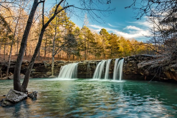 Falling Water Falls Golden Hour 3760 Fs Photography Art | Koral Martin Fine Art Photography