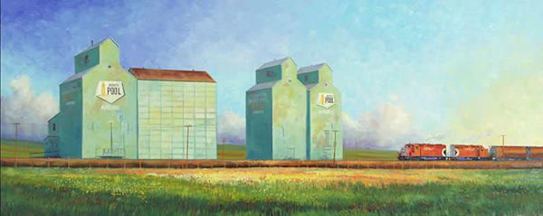 Airdrie Elevators Art | Glen Collin Arworks Inc.