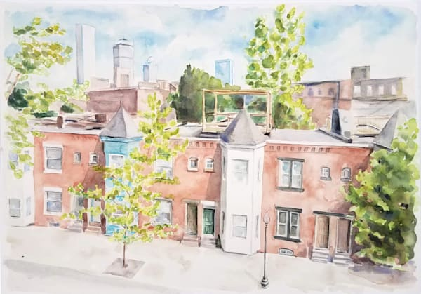 Custom House Watercolor Painting