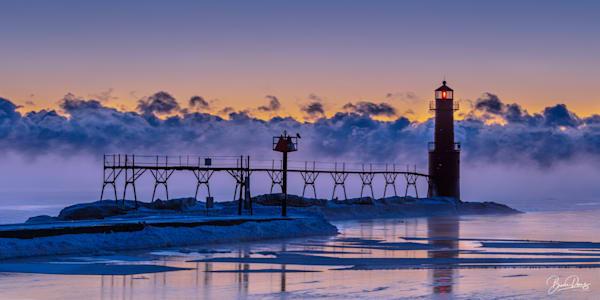 Pre Dawn, Algoma Pierhead Lighthouse Photography Art | brucedanz