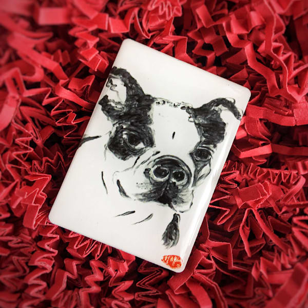 Miss Bea (Boston Terrier Mix) Art | popofpaper