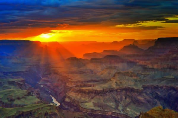 Grand Canyon Sunset Photography Art | frednewmanphotography
